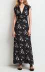 Sleeveless Floral Plunging V Neck Dress by TOMAS MAIER for Preorder on Moda Operandi