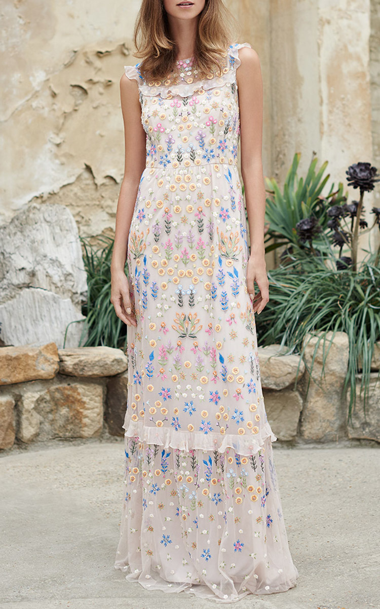 b5521691608 Flowerbed Embroidered Maxi Dress by Needle  amp