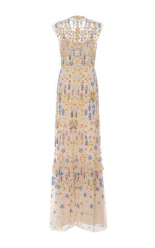 Flowerbed Embroidered Maxi Dress by NEEDLE & THREAD for Preorder on Moda Operandi