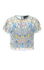 Flowerbed Embroidered Top by NEEDLE & THREAD for Preorder on Moda Operandi