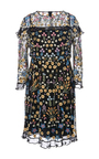 Flowerbed Embroidered Mini Dress by NEEDLE & THREAD for Preorder on Moda Operandi