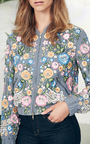 Lace Foliage Bomber Jacket by NEEDLE & THREAD for Preorder on Moda Operandi