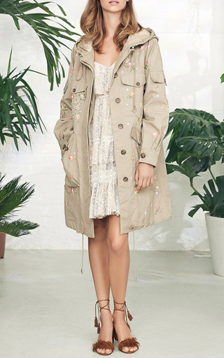 Military Dragonfly Parka by NEEDLE & THREAD for Preorder on Moda Operandi