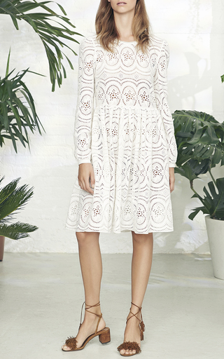 Lace Broderie Long Sleeve Dress by NEEDLE & THREAD for Preorder on Moda Operandi