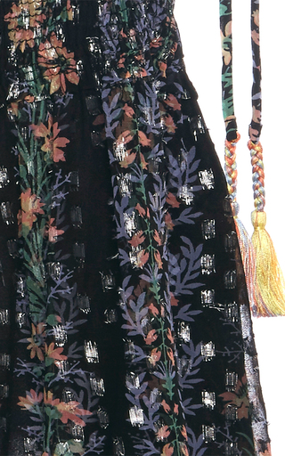 Floral Stripe Tie Top by NEEDLE & THREAD for Preorder on Moda Operandi