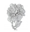 Duchess Hibiscus Collection   Duchess Hibiscus Ring In White Diamond by ANNA HU HAUTE JOAILLERIE for Preorder on Moda Operandi