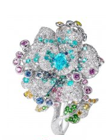 Rose Ribbon Collection   Rose Ribbon Ring In Paraiba Tourmaline by ANNA HU HAUTE JOAILLERIE for Preorder on Moda Operandi