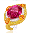 Medium anna hu red modern art deco collection modern art deco ring in rubellite