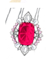 Modern Art Deco Collection   Chandelier Earrings In Rubellite by ANNA HU HAUTE JOAILLERIE for Preorder on Moda Operandi
