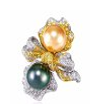 Rose Ribbon Collection   Rose Ribbon Ring In Pearl by ANNA HU HAUTE JOAILLERIE for Preorder on Moda Operandi