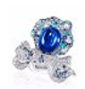 Rose Ribbon Collection   Rose Ribbon Ring In Sapphire by ANNA HU HAUTE JOAILLERIE for Preorder on Moda Operandi