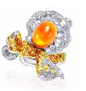 Rose Ribbon Collection   Rose Ribbon Ring In Opal by ANNA HU HAUTE JOAILLERIE for Preorder on Moda Operandi