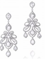 Medium anna hu silver lace collection alexandria earrings in diamond