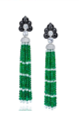 Turandot Collection   Turandot Earrings In Emerald Beads by ANNA HU HAUTE JOAILLERIE for Preorder on Moda Operandi