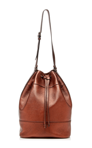 Large Sporty Metallic Bucket Bag by TOMAS MAIER for Preorder on Moda Operandi
