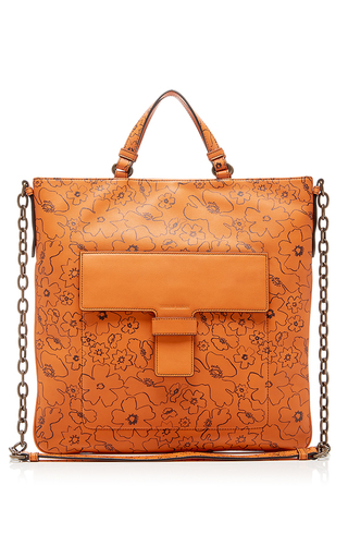 Medium tomas maier brown checker flower aragon tote
