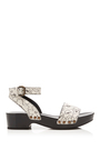 Floral Leather Wedge by TOMAS MAIER for Preorder on Moda Operandi