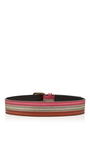 Color Block Belt With Metallic Finish by TOMAS MAIER for Preorder on Moda Operandi