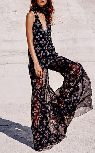 Silk High Neck Jumpsuit by CAROLINE CONSTAS for Preorder on Moda Operandi