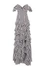 Stripe Ruffle Gown by CAROLINE CONSTAS for Preorder on Moda Operandi