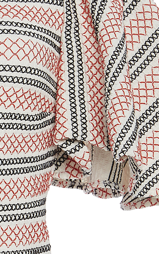 Flare Knit Stripe Dress by CAROLINE CONSTAS for Preorder on Moda Operandi