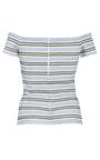 Margot Knit Stripe Top by CAROLINE CONSTAS for Preorder on Moda Operandi