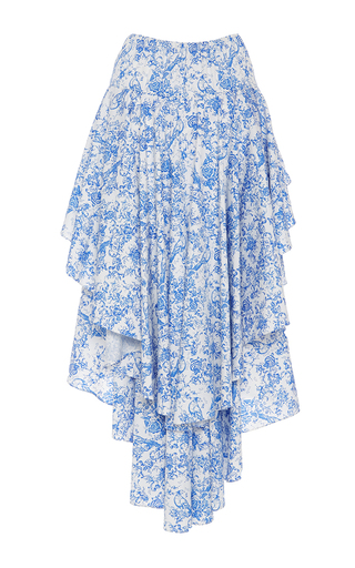 Giulia Asymmetric Ruffled Skirt by CAROLINE CONSTAS for Preorder on Moda Operandi