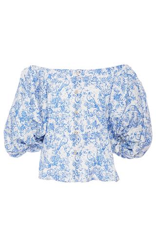 Jolie Puff Sleeve Top by CAROLINE CONSTAS for Preorder on Moda Operandi