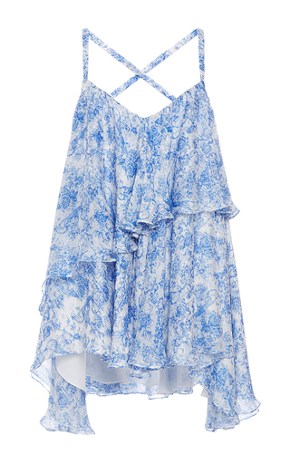 Theodora Asymmetric Ruffled Blouse by CAROLINE CONSTAS for Preorder on Moda Operandi