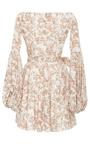 Gisele Long Sleeve Mini Dress by CAROLINE CONSTAS for Preorder on Moda Operandi