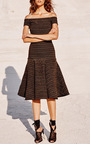 Sofia Knit Fit And Flare Dress by CAROLINE CONSTAS for Preorder on Moda Operandi