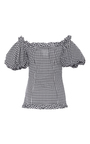 Demeter Gingham Corset Top by CAROLINE CONSTAS for Preorder on Moda Operandi