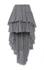 Giulia Asymmetric Gingham Skirt by CAROLINE CONSTAS for Preorder on Moda Operandi