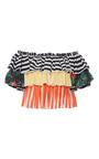 Pandora Cropped Ruffle Top by CAROLINE CONSTAS for Preorder on Moda Operandi