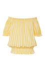 Striped Peasant Top by CAROLINE CONSTAS for Preorder on Moda Operandi