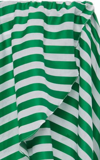Adelle Striped Asymmetric Skirt by CAROLINE CONSTAS for Preorder on Moda Operandi