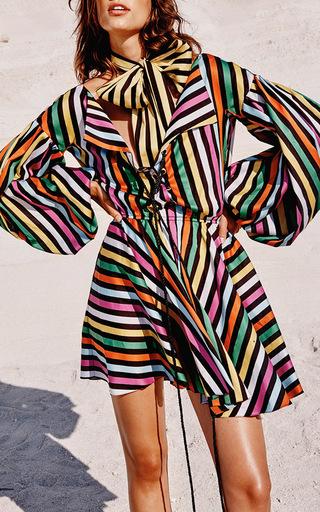 Olympia Striped Mini Dress by CAROLINE CONSTAS for Preorder on Moda Operandi