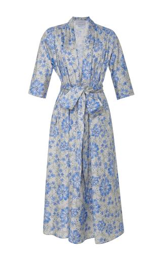 Medium luisa beccaria print floral print stretch cotton dress