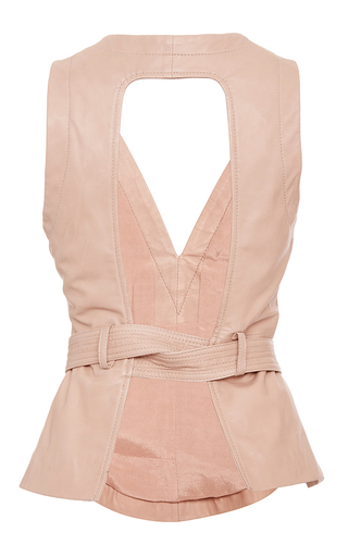 Sue Leather Belted Shell by MARISSA WEBB for Preorder on Moda Operandi