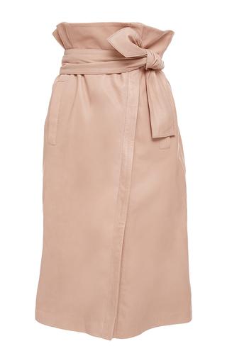 Medium marissa webb nude ella leather wrap skirt
