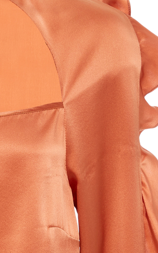 Geneva Ruffle Tie Front Blouse by MARISSA WEBB for Preorder on Moda Operandi