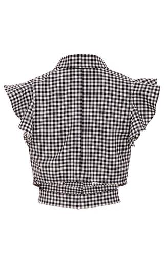 Denise Gingham Cropped Blouse by MARISSA WEBB for Preorder on Moda Operandi