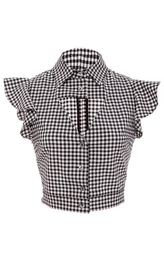 Medium marissa webb plaid denise gingham cropped blouse