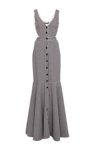 Medium marissa webb plaid judith gingham maxi dress