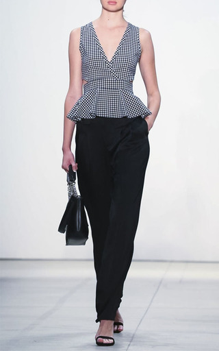 Cora Gingham Peplum Top by MARISSA WEBB for Preorder on Moda Operandi
