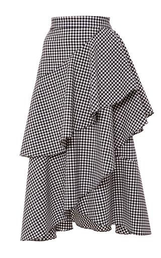 Medium marissa webb plaid dom gingham asymmetric ruffle skirt