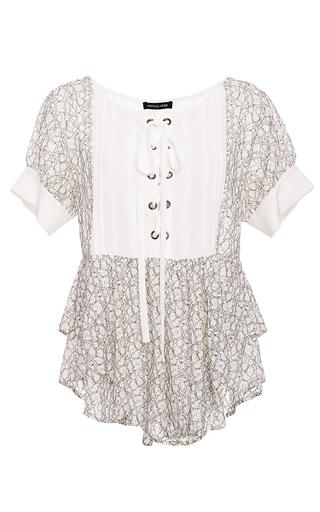 Katia Lace Up Blouse by MARISSA WEBB for Preorder on Moda Operandi