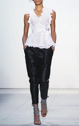 Leah Ruffled Wrap Blouse by MARISSA WEBB for Preorder on Moda Operandi