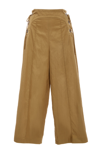 Laura Cropped Lace Up Pants by MARISSA WEBB for Preorder on Moda Operandi