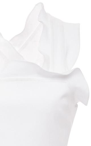 White Lace Zora Stretch Peplum Blouse by MARISSA WEBB for Preorder on Moda Operandi